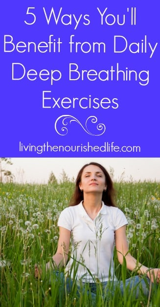 Deep breathing exercises just might save your sanity. The next time you feel angry, stressed or anxious, see if your breathing is short and shallow.