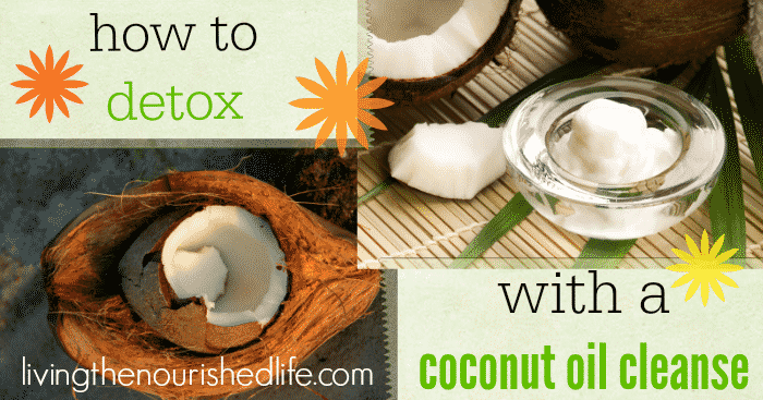 How to Detox with a Coconut Oil Cleanse -a coconut and a bowl of coconut oil