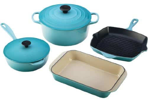 Healthiest Cooking Pans - Blue Enameled Cast Iron - Safe Cookware - Livingthenourishedlife.com