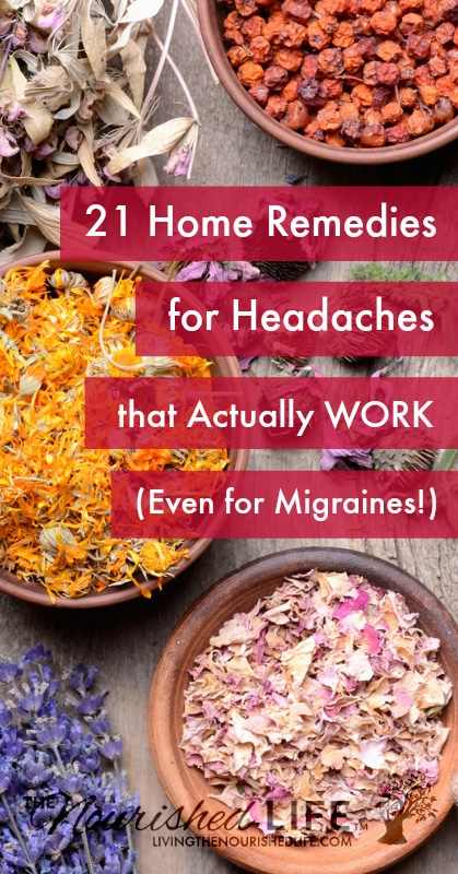 Looking for headache relief? You're in the right place. I've put together a list of home remedies for headaches that will help ease away the pain - and you probably already have everything you need!
