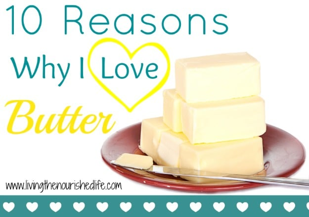10 Reasons Why I Love Butter: Butter on plate isolated on white