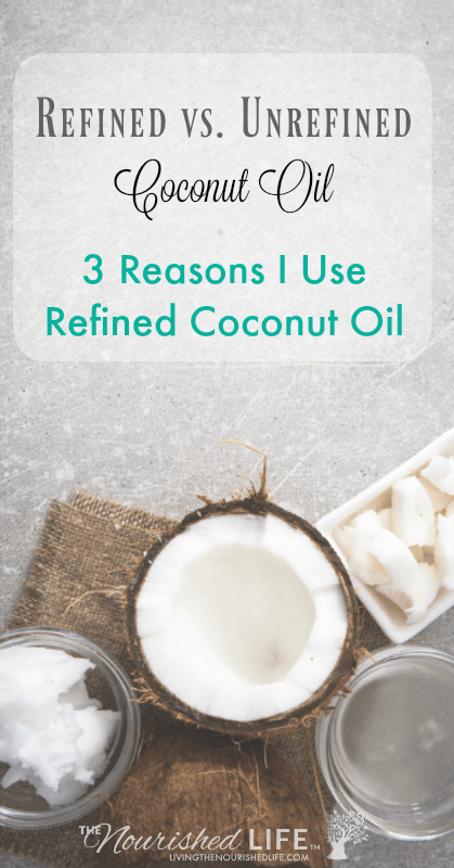 3 Reasons I Use Refined Coconut Oil: half of a coconut on a burlap mat