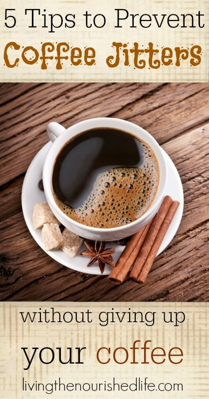 5 Tips to Prevent Coffee Jitters without Giving Up Your Coffee: A small cup of coffee with cinnamon sticks and sugar cubes
