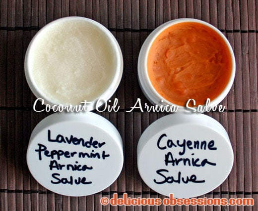Coconut Oil Skincare Recipes: Coconut Oil Arnica Salve