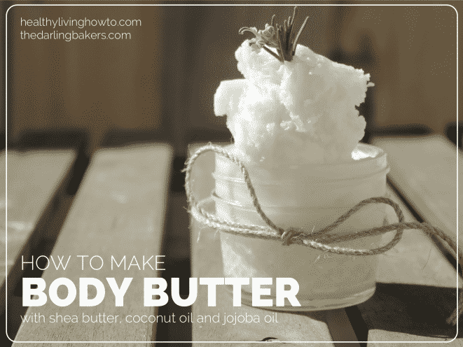 Coconut Oil for Skin: Body Butter Recipe in a small jar with twine
