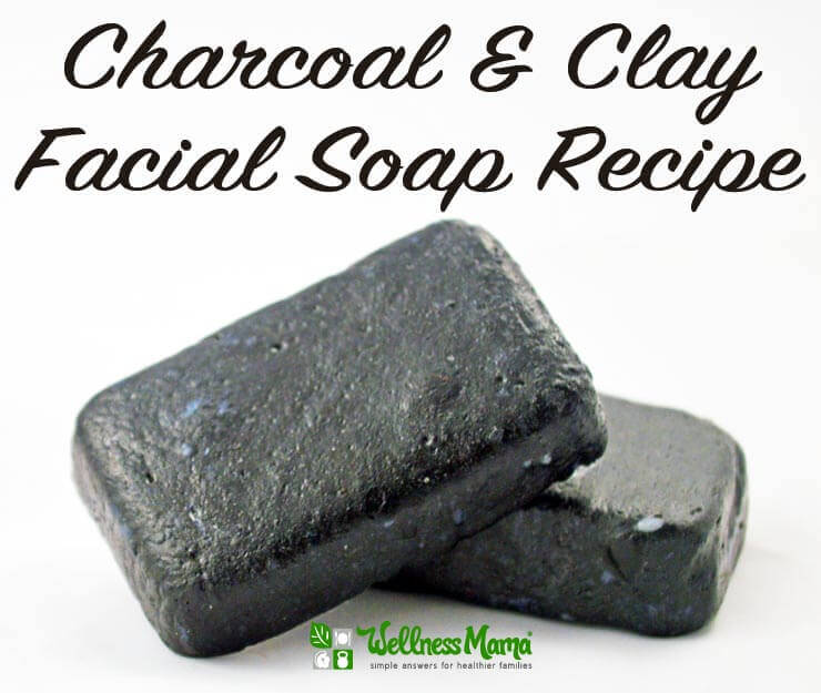 Coconut Oil Skincare Recipes: Charcoal and Clay Facial Soap Recipe