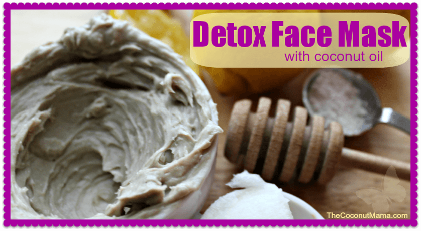 Coconut Oil for Skin: Detox Face Mask in jar with honey comb and other ingredients