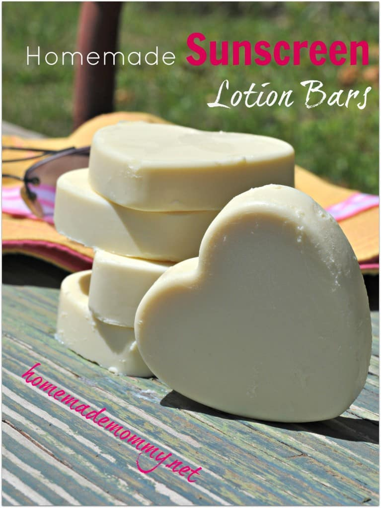 Coconut Oil for Skin: Homemamde Sunscreen Lotion Bars