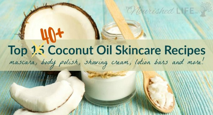 Top 41 Coconut Oil Skin Recipes (mascara, body polish, shaving cream, lotion bars and more) - at livingthenourishedlife