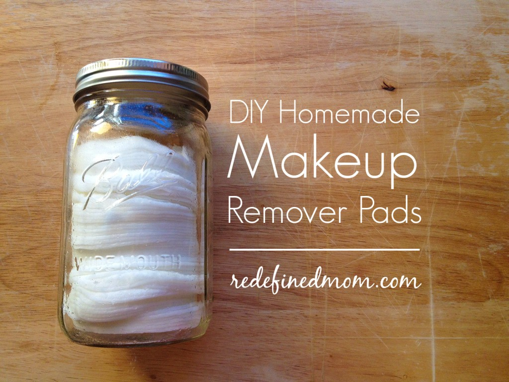 Coconut Oil for Skin: Makeup Remover Pads in a glass jar