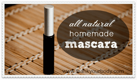 Coconut Oil for Skin: All Natural Homemade Mascara on bamboo mat