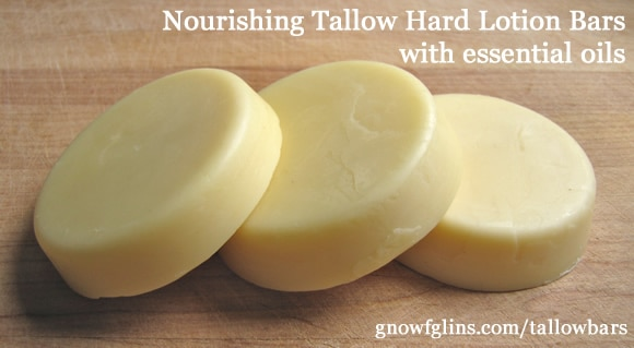 Coconut Oil for Skin: Nourishing Tallow Hard Lotion Bars