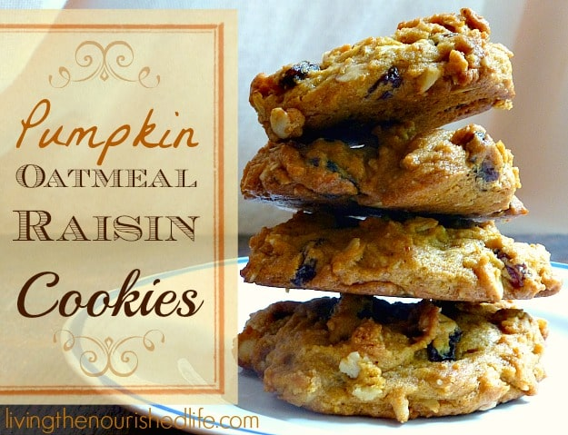 Pumpkin Oatmeal Raisin Cookie Recipe