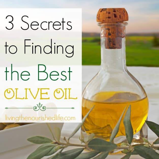 3 Secrets to Finding the Best Olive Oil: glass bottle with olive oil in it
