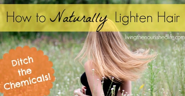 How to Naturally Lighten Hair at Home Without Bleach