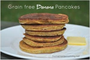 Banana Recipes: Grain Free Banana Pancakes