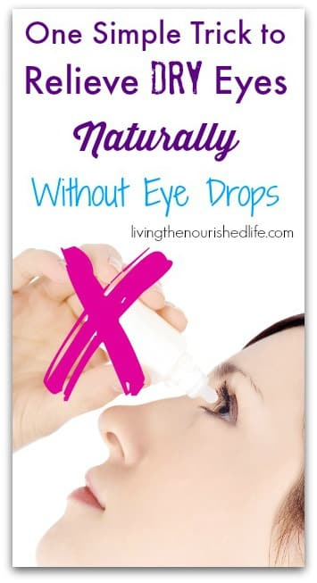 Stop using eye drops for dry, itchy eyes
