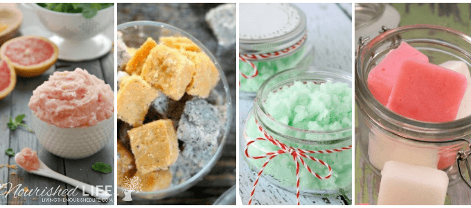 These sugar scrub recipes are GORGEOUS and would make the best gifts for teachers, friends, family, or anyone - at livingthenourishedlife.com