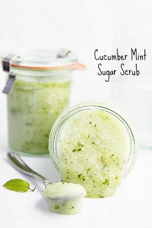 21 Best Homemade Sugar Scrubs: Cucumber Mint Sugar Scrub