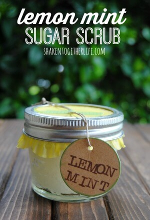 DIY Lemon Mint Sugar Scrub