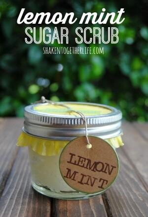 21 Best Homemade Sugar Scrubs: DIY Lemon Mint Sugar Scrub