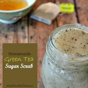 21 Best Homemade Sugar Scrubs: Green Tea Sugar Scrub