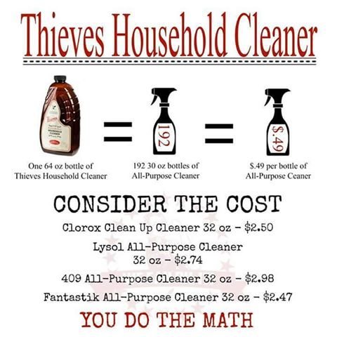 Thieves Household Cleaner Math