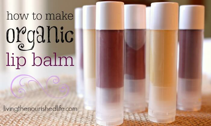 How to Make Lip Balm: Pretty tubes of DIY chapstick in different natural colors on