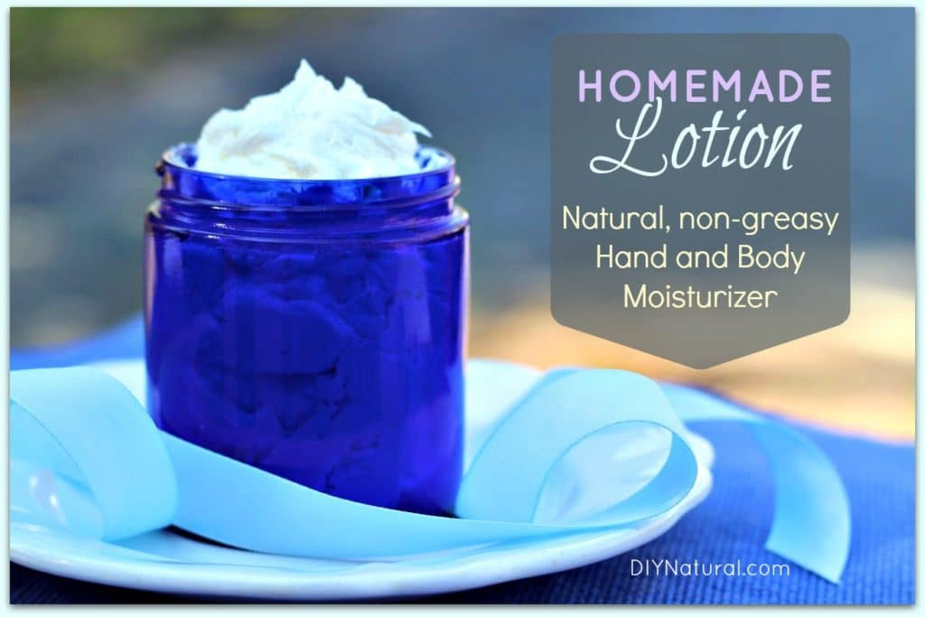 Homemade Lotion Recipes: Homemade Lotion, non-greasy, for hand and body