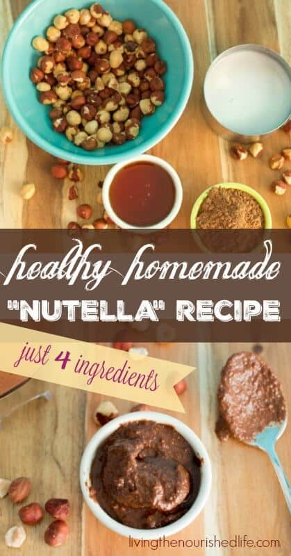 Ingredients to make my homemade nutella recipe