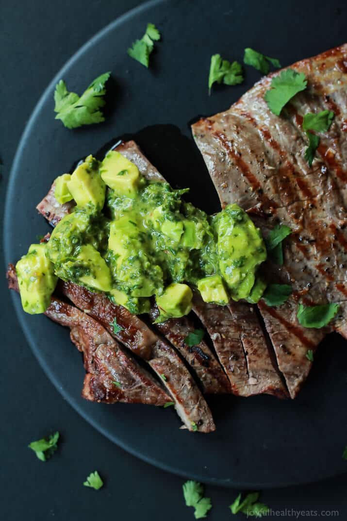 Avocado Recipes: Grilled Flank Steak with Avocado Chimichurri