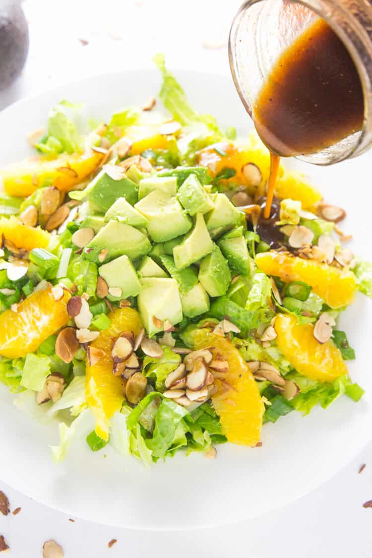 Avocado Recipes: Orange Almond Salad with Avocado