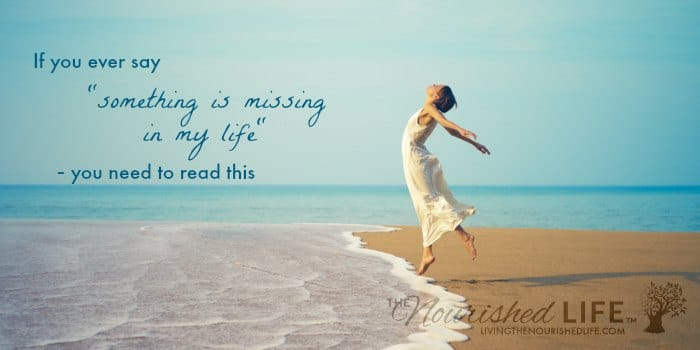 "If you ever say ""something is missing in my life"" - you need to read this: woman in white jumping on beach by ocean waves"