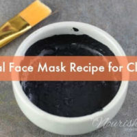 Charcoal Face Mask Recipe for Clear Skin (without glue!)