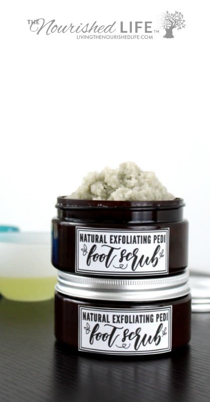 Pedi Foot Scrub Recipe with Coconut Oil