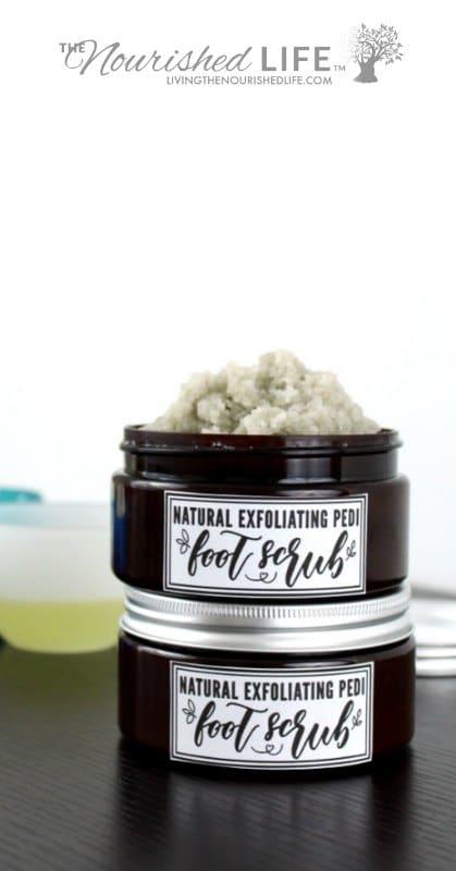 Pedi Foot Scrub Recipe with Coconut Oil