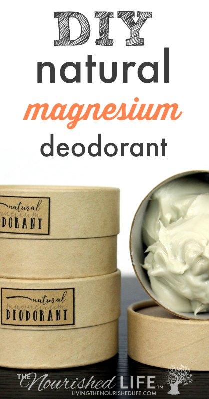 Natural Creamy Magnesium Deodorant Recipe at livingthenourishedlife.com