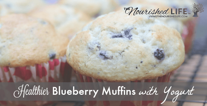 Healthier Blueberry Muffins with Yogurt