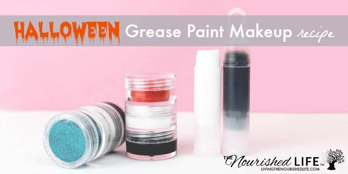 DIY Halloween Grease Paint Makeup