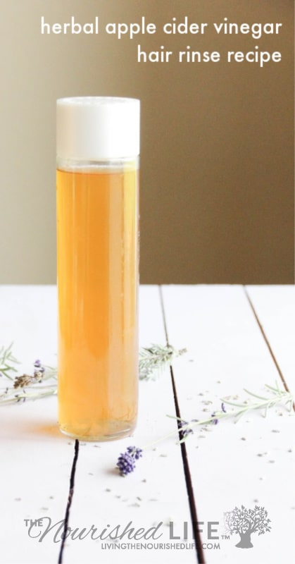 Herbal ACV rinse for healthy, shiny hair