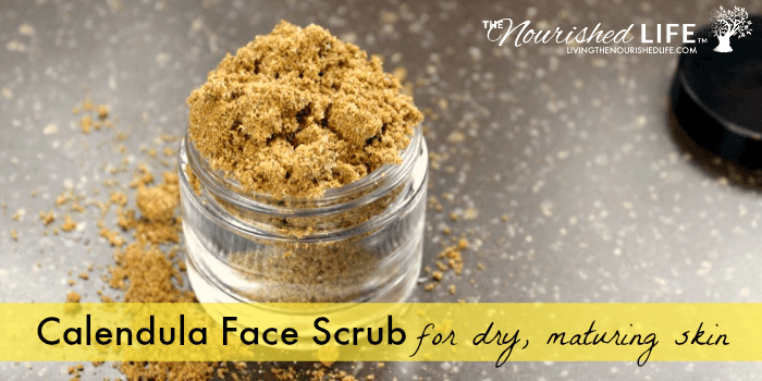 Calendula Face Scrub Recipe for Dry or Maturing Skin