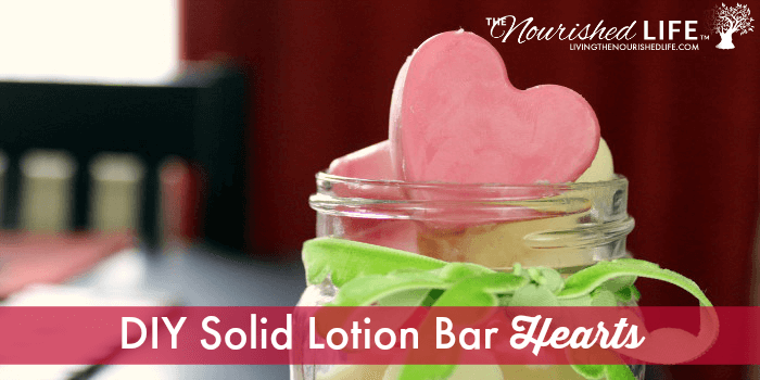 DIY Solid Lotion Bar Hearts for Valentine's Day