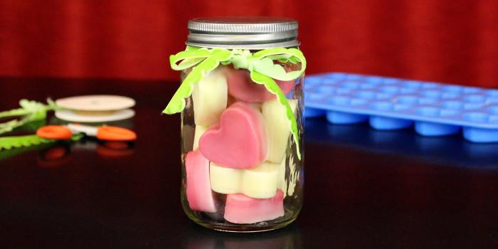DIY Solid Lotion Bar Hearts Recipe