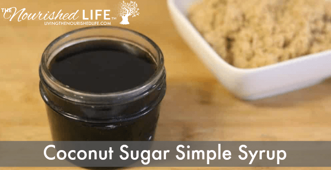Coconut Sugar Simple Syrup Recipe