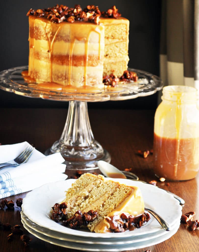 Healthy Wedding Cake Recipes: Gluten Free Salted Caramel Cake