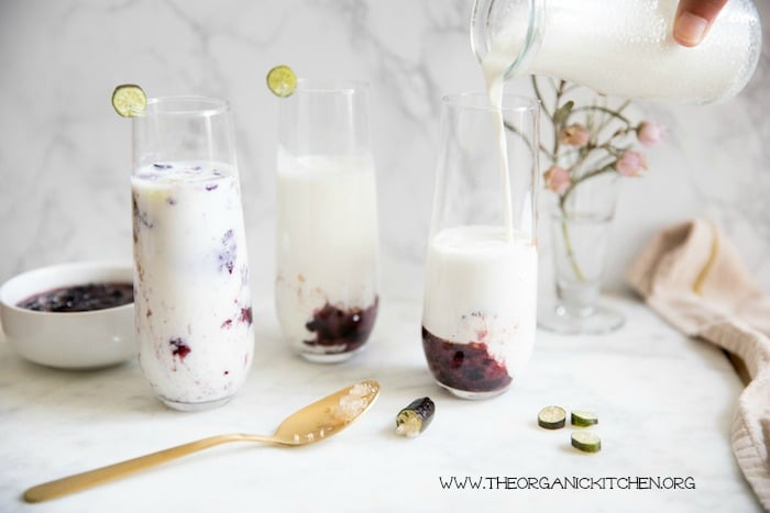 Healthy Blueberry Recipes: Banana Blueberry Kefir Smoothies