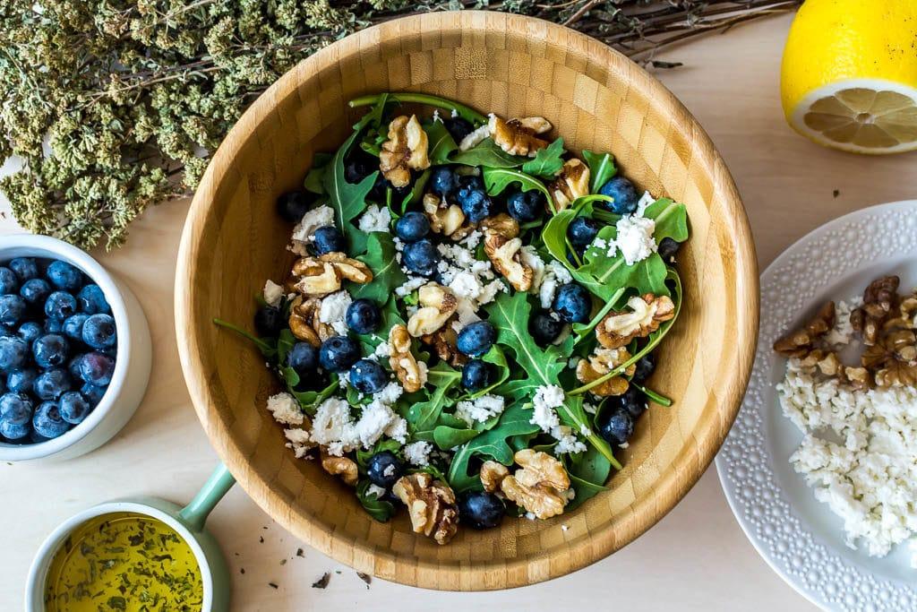 Healthy Blueberry Recipes: Blueberry Arugula Salad