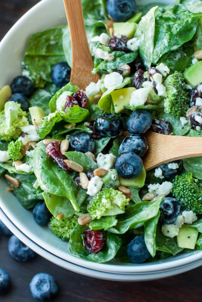 Healthy salad recipes with blueberries and feta cheese