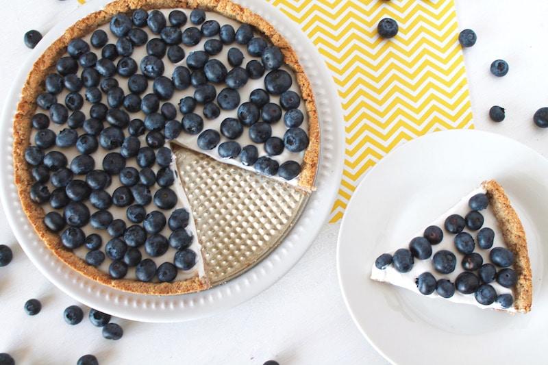 Healthy Blueberry Recipes: Paleo Blueberry Tart