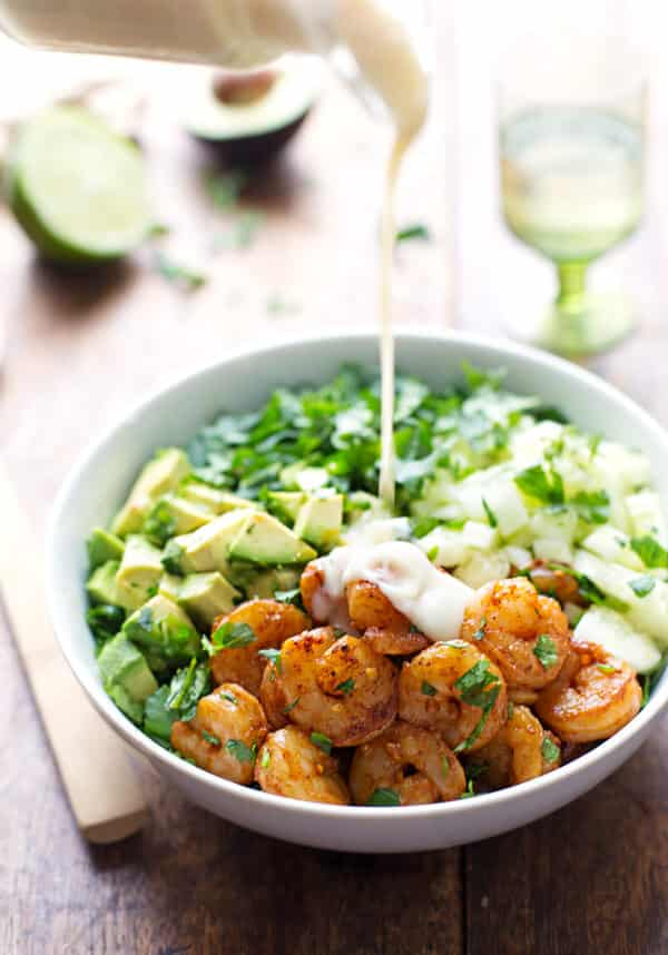 A beautiful shrimp salad in our easy salads collection